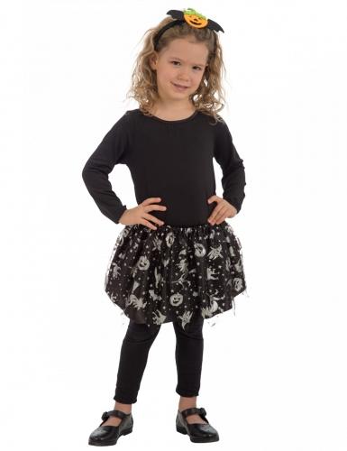Tutu noir et argent halloween fille