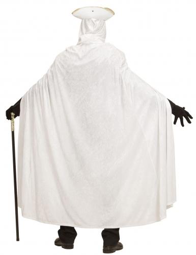 Cape de velours blanche 150 cm-3