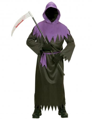 Déguisement faucheur noir et violet adulte-1