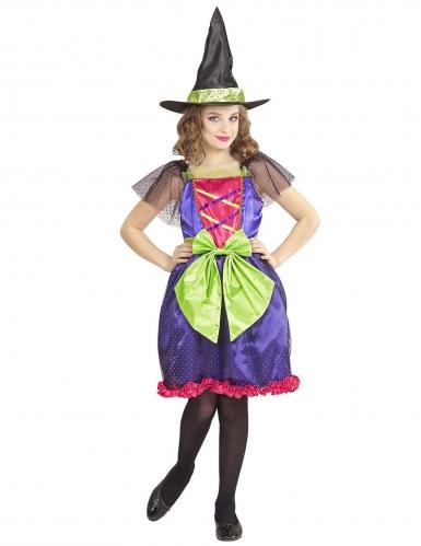 Déguisement sorcière multicolore enfant-1