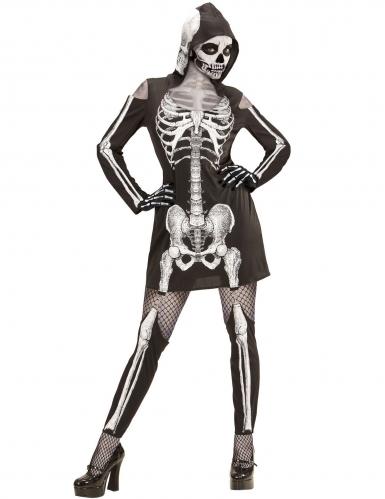 Déguisement squelette à jambières femme