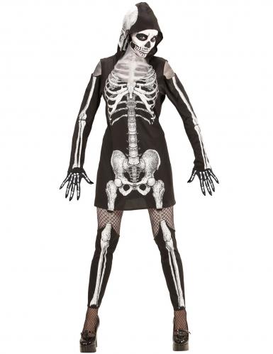 Déguisement squelette à jambières femme-1