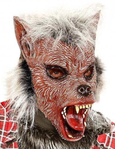 Masque loup-garou avec poils enfant