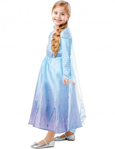 Déguisement luxe Elsa La Reine des neiges 2™ fille-2