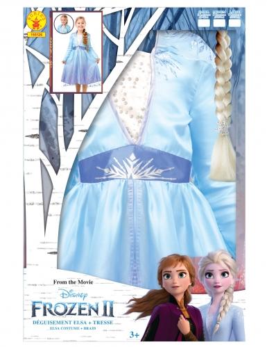 Coffret déguisement et tresse Elsa La Reine des neiges 2™ fille-4