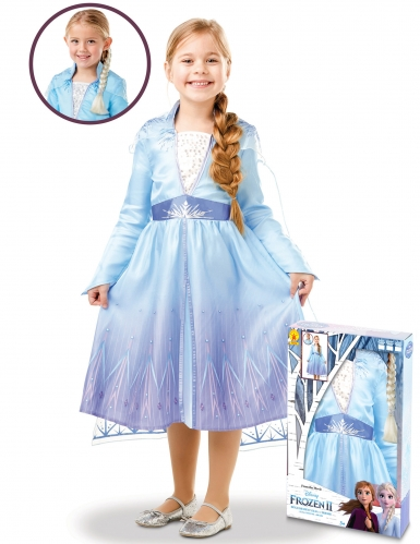 Coffret déguisement et tresse Elsa La Reine des neiges 2™ fille