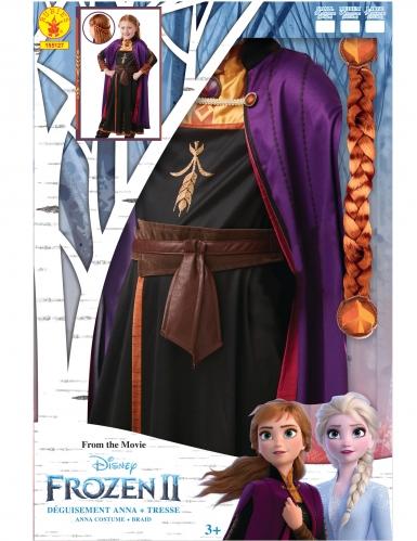 Coffret déguisement et tresse Anna La reine des neiges 2™ fille-3