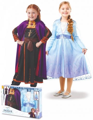 Coffret déguisements Elsa et Anna La Reine des neiges 2™ fille