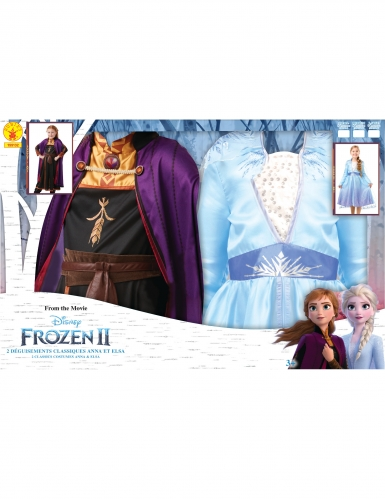 Coffret déguisements Elsa et Anna La Reine des neiges 2™ fille-2