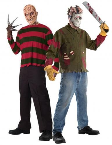 Déguisement de couple Freddy contre Jason adulte