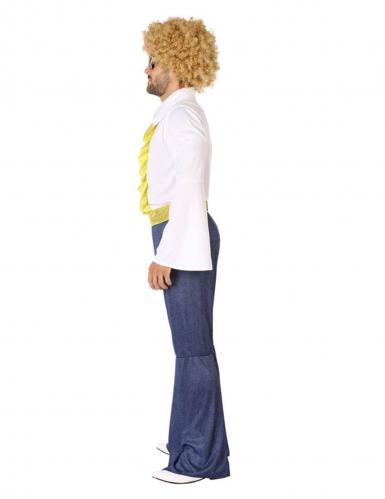 Déguisement disco effet jean et doré homme-1