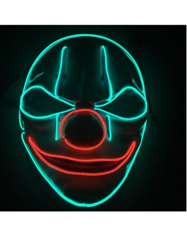 Masque luxe LED clown adulte-1