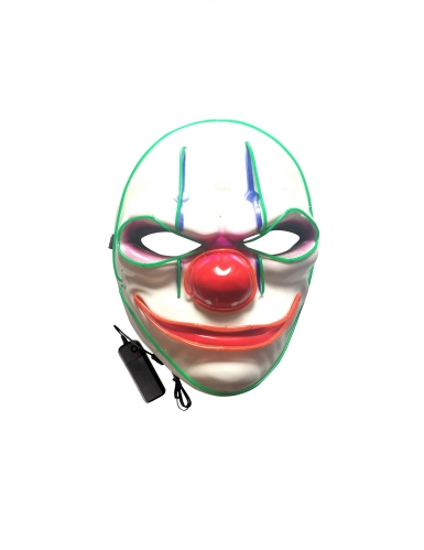 Masque luxe LED clown adulte