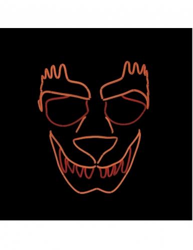 Masque luxe LED loup-garou adulte-1