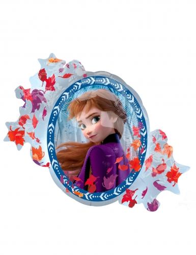 Ballon aluminium recto verso Elsa et Anna La Reine des Neiges 2™ 76 x 66 cm-1