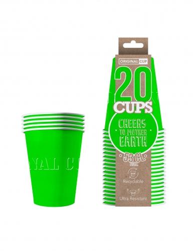 20 Gobelets américains carton recyclable verts 53 cl-1
