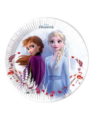 8 Assiettes en carton Frozen La Reine des Neiges 2™ 23 cm