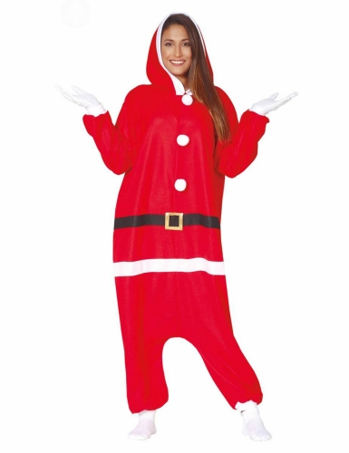 Combinaison Père Noël moderne adulte-1