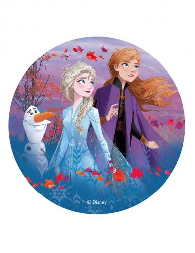 Disque en azyme La Reine des Neiges 2™ Anna, Elsa et Olaf 20 cm