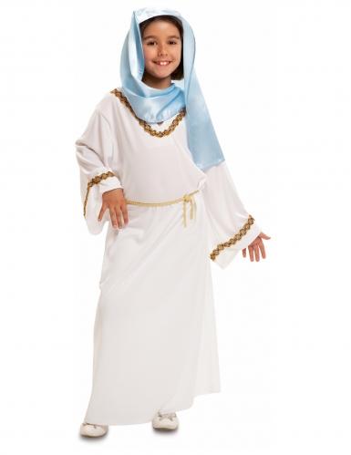 Déguisement Vierge Marie blanche et bleue fille