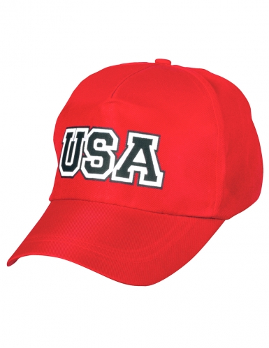 Casquette USA rouge adulte-1