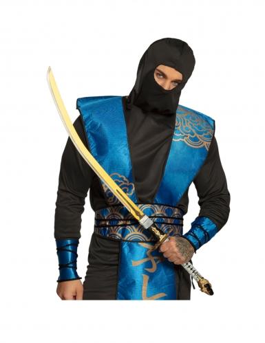Sabre ninja doré en mousse dure 105 cm-1