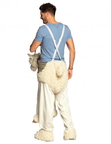 Déguisement homme à dos de lama blanc adulte-4