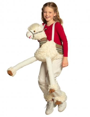 Déguisement à dos de lama blanc enfant-2