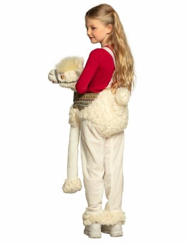 Déguisement à dos de lama blanc enfant-3