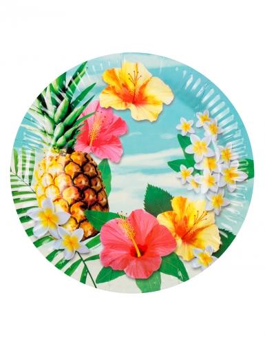 Kit vaisselle jetable tropical paradise 24 pièces-1