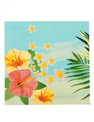 Kit vaisselle jetable tropical paradise 24 pièces-2