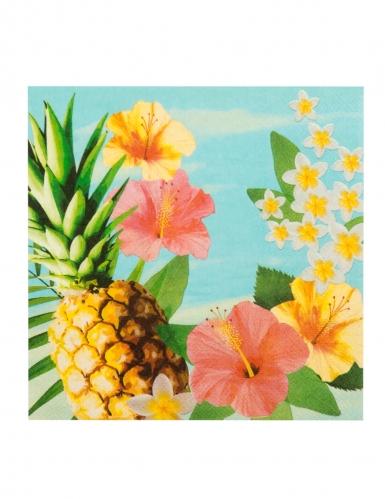 Kit vaisselle jetable tropical paradise 24 pièces-3