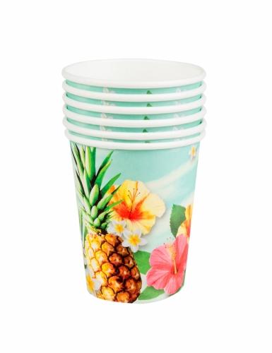 Kit vaisselle jetable tropical paradise 24 pièces-4
