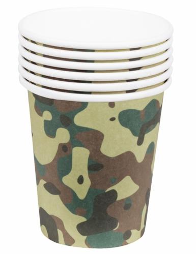 Kit vaisselle jetable militaire 24 pièces-1