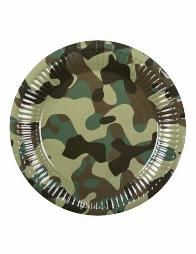 Kit vaisselle jetable militaire 24 pièces-3