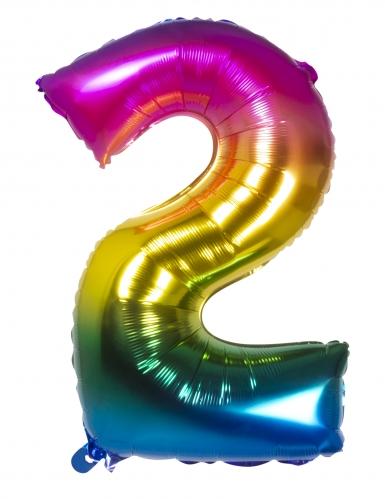 Ballon aluminium multicolore 86 cm-2
