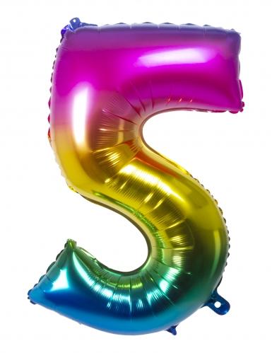 Ballon aluminium multicolore 86 cm-5