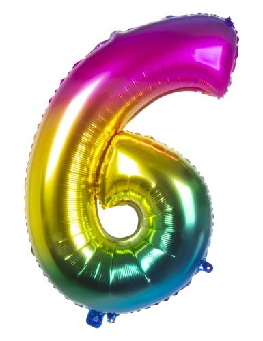 Ballon aluminium multicolore 86 cm-6