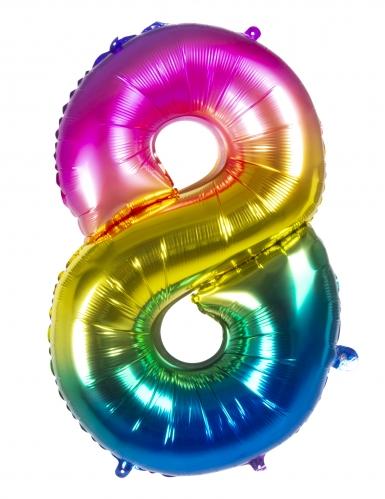Ballon aluminium multicolore 86 cm-8