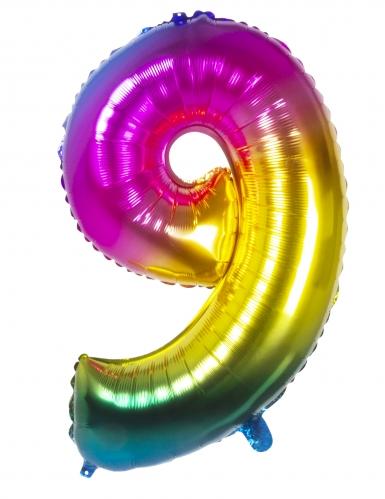 Ballon aluminium multicolore 86 cm-9