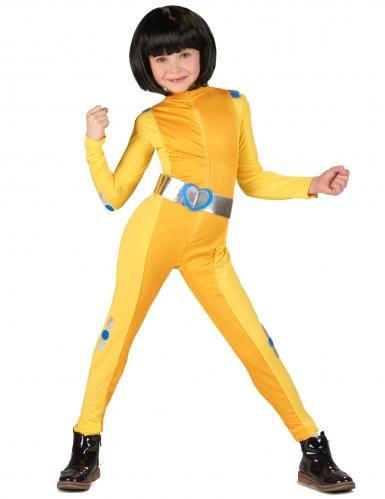 Déguisement espionne de choc jaune fille