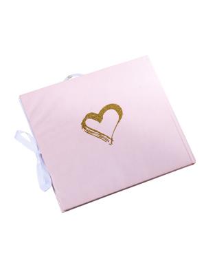 Livre d'or Mlle devient madame rose, blanc et or 22 x 19 cm-1