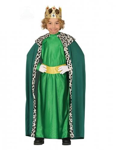 Déguisement Roi Mage vert enfant
