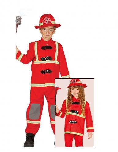 Déguisement pompier rouge enfant-1