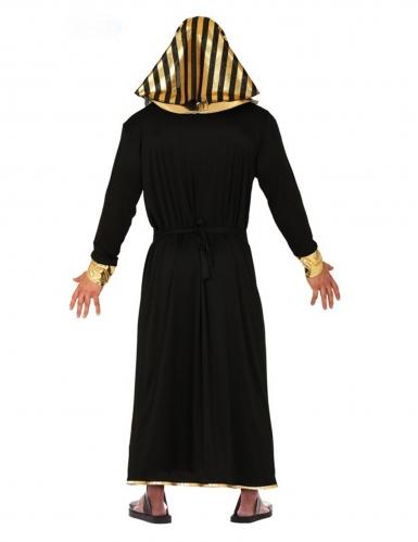 Déguisement pharaon noir et doré homme-1