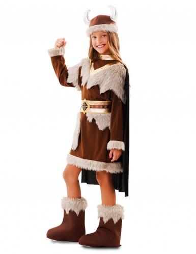 Déguisement viking marron fille-1