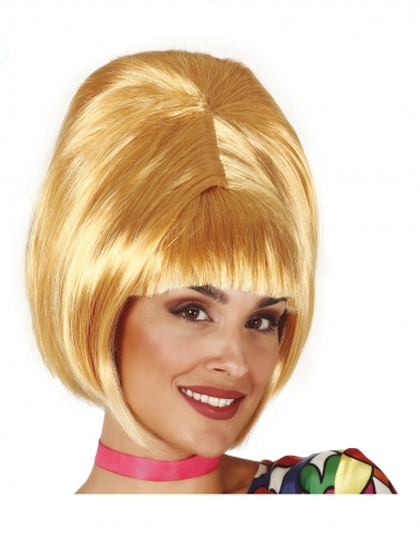 Perruque blonde années 60 adulte