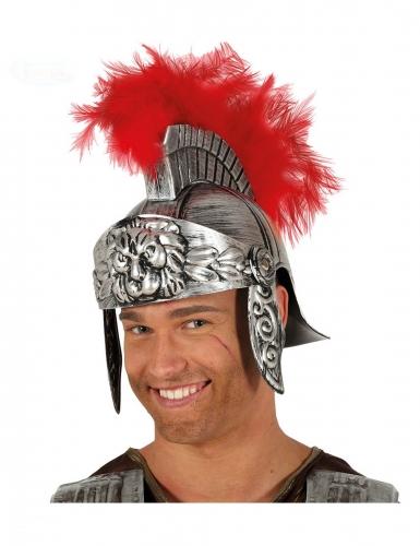 Casque centurion romain plume rouge adulte