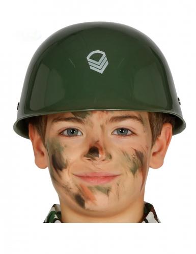 Casque militaire kaki enfant