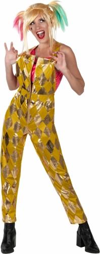 Salopette dorée Harley Quinn Birds of Prey™ femme-1